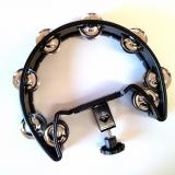 Professional Tambourine - With Bracket - Black