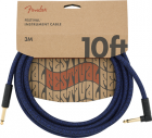 Fender Festival Instrument Cable, 10ft Angled  Pure Hemp, Blue Dream