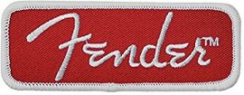 Fender Rectangle Logo Patch - Red