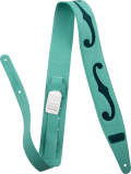 Gretsch F-Hole Leather Strap, Surf Green And Dark Green