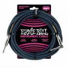 Ernie Ball P06060 Braided Instrument Cable, Blue, 25 ft - P06060
