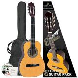 Encore Natural Wood Three Quarter Classic Guitar Outfit (ENC34OFT)