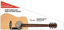 Fender Dreadnought Pack - Natural (FA-115)