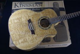 Dean EQA GN Quilted Electro Acoustic with free Kinsman Heavy Duty bag