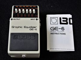 Boss GE-6 Graphic Equalizer (silver screw model)