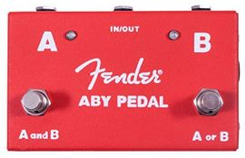 Fender ABY Pedal Switch Between Two Amps or Guitars (023-4506-000)
