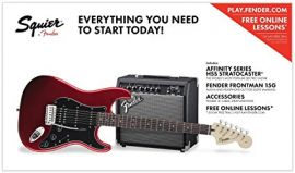 Fender Squier Affinity HSS Strat Pack - Candy Apple Red - With Frontman 15G Amp & Accessories