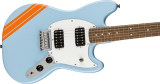 Fender FSR® Competition Mustang® HH - Daphne Blue with Competition Orange Stripes
