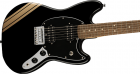 Fender Bullet Competition Mustang HH - Black with Shoreline Gold Stripes