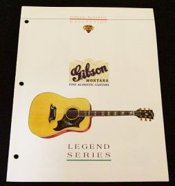 Gibson 1994 Legend Series Acoustic Catalogue
