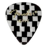 Fender 351 Heavy Guitar Picks - Checker (Pack of 12)