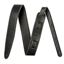 Fender 5 cm (2 Zoll) Artisan Leather Guitar Strap - Black