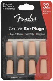 Fender Concert Series Foam Ear Plugs - 4 Sets