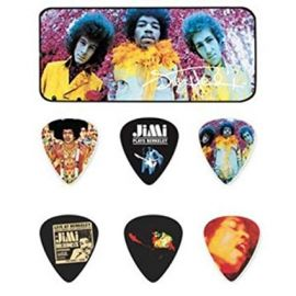 Jim Dunlop Jimi Hendrix Commemorative Picks -  12 Picks in Tin Box