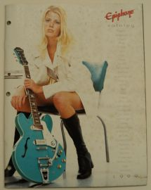 Epiphone 49 page full line 1999 colour catalogue