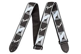 Fender Guitar Strap (2 Inch) - Monogrammed - Black/Light Grey/Blue