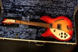 Rickenbacker 330 Left Hand Fireglo with Vintage style Silver case