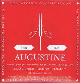 Augustine Classic Red Set Copper Wound Classical Guitar Strings