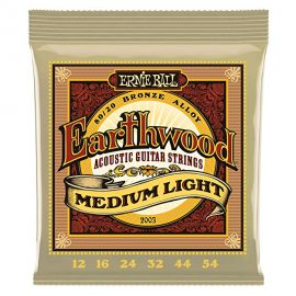 Ernie Ball Earthwood Medium Light 80/20 Bronze Acoustic Set (.012 - .054)