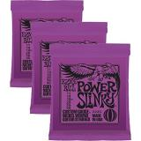 Ernie Ball Power Slinky Electric Guitar Strings (Gauge 11-48) - 3 pack