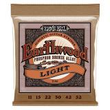 Ernie Ball Earthwood Light Phosphor Bronze Acoustic String Set, (011 - .052)