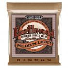 Ernie Ball Earthwood Medium Light Phosphor Bronze Acoustic String Set (12 -54)