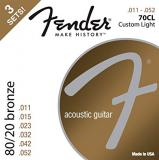 Fender 70CL Custom Light 11-52 Strings - 3 Set Pack
