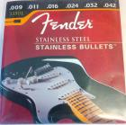 Fender Stainless Steel Bullet Electric Guitar Strings 009-042