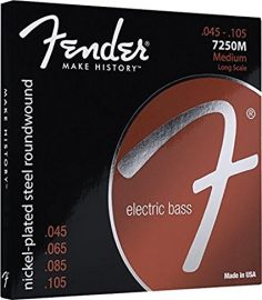 Fender Electric Bass Strings .045-.105 Medium Long Scale (7250M)