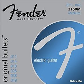 Fender Original Bullets Electric Guitar Strings 11-49 Pure Nickel Bullet End (3150M)