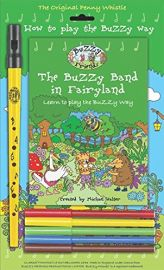 The Buzzy Band in Fairy Land - Yellow Clarke Whistle and Colouring Pens