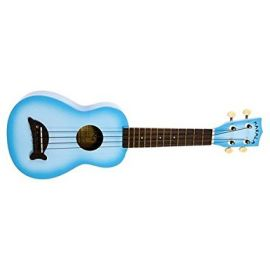 Makala Soprano Dolphin Ukulele (with bag) - Light Blue Burst