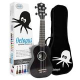 Octopus Soprano Ukulele - Black - Inc Bag