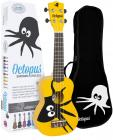 Octopus Soprano Ukulele - Graphic Series - Kane Yellow