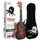 Octopus Concert Ukulele - Red Burst - Inc Bag