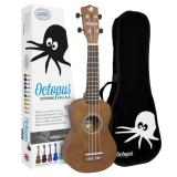 Octopus Soprano Ukulele Outfit - Natural Brown - inc Bag