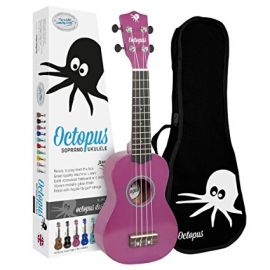 Octopus Soprano Ukulele Outfit - Purple - Inc Bag (UK200PU)