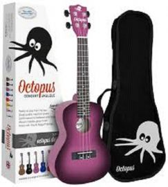 Octopus Soprano Ukulele Outfit - Purple Burst - Inc Bag