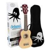 Octopus Soprano Ukulele - Yellow natural - Inc Bag