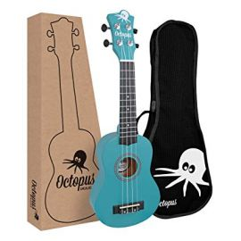 Octopus Soprano Ukulele Outfit - Sky Blue Matt Finish (UK200D - SB)