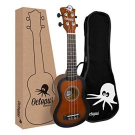 Octopus Soprano Ukulele - Old Violin Burst (UK200D-OVB)