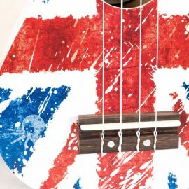 Octopus Soprano Ukulele - Union Jack Red