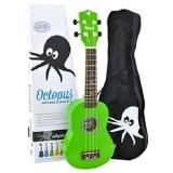 Octopus Soprano Ukulele  Green  inc bag