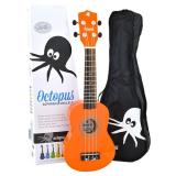 Octopus Soprano Ukulele Outfit - Orange - Inc Bag