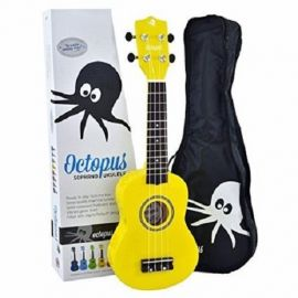 Octopus Soprano Ukulele - Yellow - Inc bag