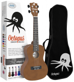Octopus Concert Ukulele inc Bag - Brown - Inc Bag