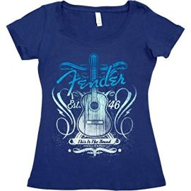 Fender Navy T-Shirt - This Is Sound - Ladies (Large)